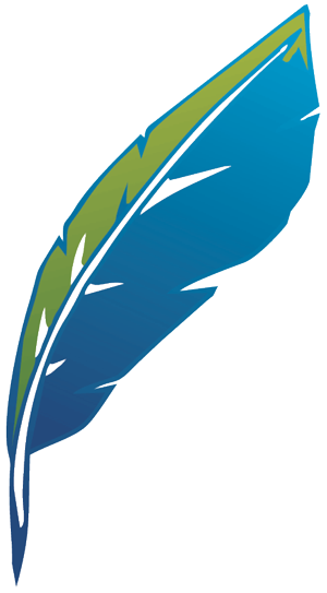 Pam Marshalla feather logo